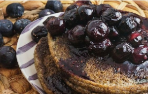 Flaxseed meal pancakes for healthy Breakfast